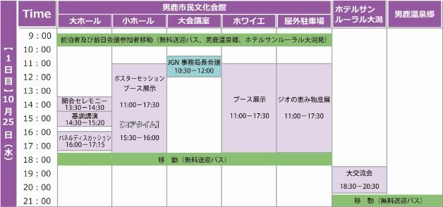 【大会1日目】スケジュール